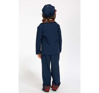 Pantaloni uniformă, manșeta în carouri