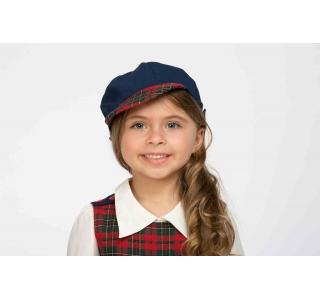 Sapcă uniformă școlară unisex, Carouri