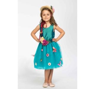 Rochia extensibilă și reglabilă Prințesa Primavera/BLUE