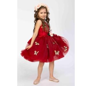 Rochie extensibilă și reglabilă Prințesa Primavera/DARK RED