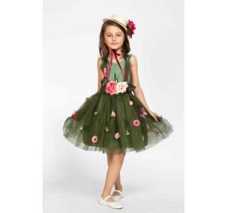 Rochie extensibilă și reglabilă Prințesa Primavera/FOREST GREEN