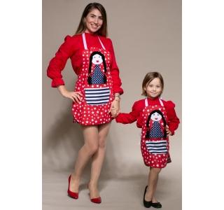 Set roșu mamă-fiică de...