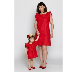 Set rochii mama-fiica Ana red