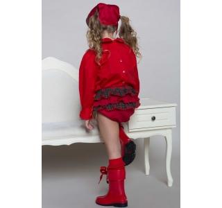 Chilot – pantalon scurt tip gogosar  cu volane la spate SARA