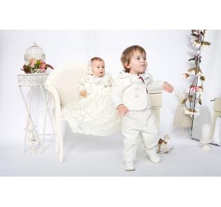 Pantaloni pentru copii extensibili si reglabili in talie Titus Alb Botez