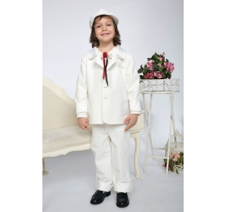Extensible & adjustable elegant kids pants TItus White Baptism