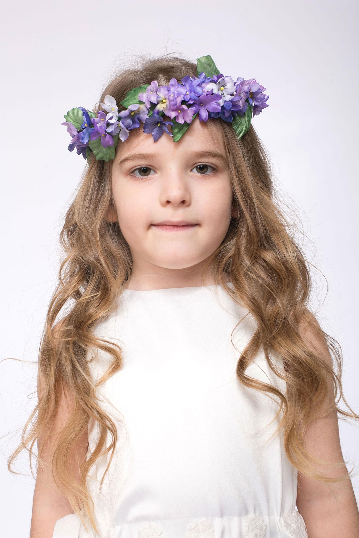 Coronita de flori handmade pentru fete Dada
