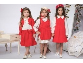 Rochie fetite extensibila cu 2 fete tip sarafan cu imprimeu floral Sofia